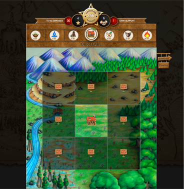 Orphs of the Woodlands Game Screen